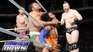 getlinkyoutube.com-Roman Reigns, Dean Ambrose & The Usos vs. The League of Nations: SmackDown, December 10, 2015