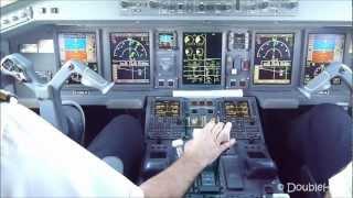 getlinkyoutube.com-Cockpit view Approach & Landing Paris CDG airport Embraer 190 AirFrance Regional