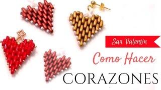 getlinkyoutube.com-Abalorios - Corazon con las cuentas Bar ( barretes ) - Colgante o pendientes para San Valentin