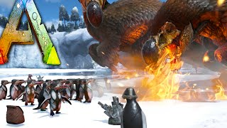 getlinkyoutube.com-Ark Survival Evolved - PENGUIN WARS - Dodo Rex, Zombie Dodos Attack / Riding Kairuku Mod