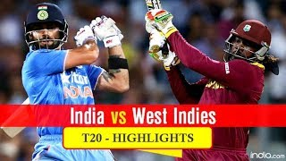 India vs West Indies T20 Full Highlights HD, 09-July-2017