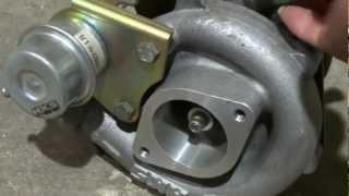 getlinkyoutube.com-ターボチャージャーを圧縮空気で回してみました。GT2540タービン