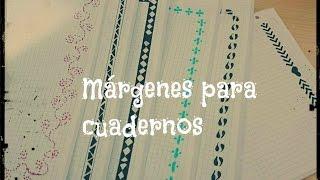 Márgenes para cuadernos/ Vuelta al cole #2 ( Muy fáciles y bonitos) - Anahi Blue
