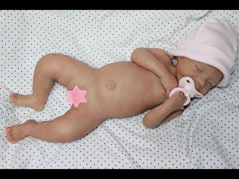 Box opening full body silicone baby doll by Monica Parres