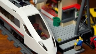 getlinkyoutube.com-Lego High Speed Passenger Train 60051 with Train Station 60050 [Unboxing - Build - Review]