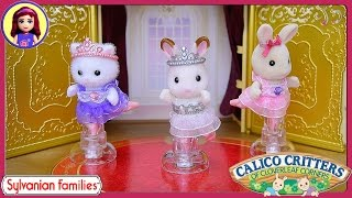 getlinkyoutube.com-Calico Critters Sylvanian Families Ballet Theater Ballerina Friends Review Silly Play - Kids Toys