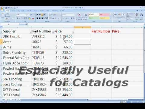 Microsoft Excel VLOOKUP Tutorial for Beginners - Office Excel 2003, 2007, 2010