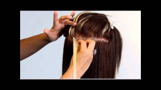 How to Apply Sticky Hair Extensions