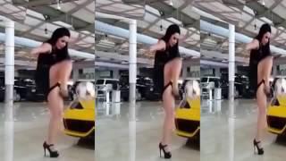 Brazilian beauty shows off football skills in heels