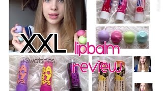 XXL Lipbalm Review + Swatshes - Eos, Baby Lips, Labello, Kiss Care Love