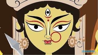 getlinkyoutube.com-The Story of Goddess Durga | Mocomi Kids