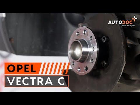 Kuinka vaihtaa takapyoran laakerit OPEL VECTRA C -merkkiseen autoon