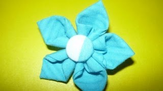 getlinkyoutube.com-Como Hacer Flores de Tela FAciles , No.047 Manualidades la Hormiga