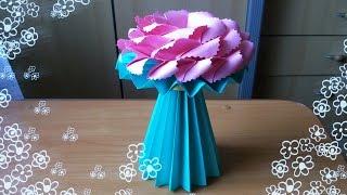 getlinkyoutube.com-DIY Amazing Handmade Crafts. How to Make an Origami Vase for Paper Flowers