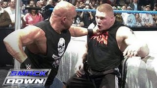 "getlinkyoutube.com-""Stone Cold"" Steve Austin confronts Brock Lesnar days before WrestleMania: SmackDown, March 11, 2004"