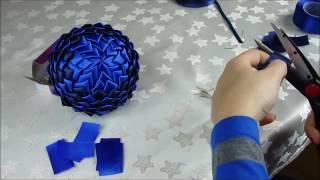 getlinkyoutube.com-Jak zrobić bombkę styropianową ze wstążki - karczoch (tutorial)