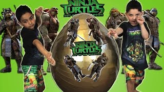 getlinkyoutube.com-Ninja Turtles Out Of The Shadows 2016 Giant Toys Surprise Egg