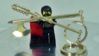 Decool 레고 닌자고 황금 무기 도금 열쇠고리 피규어용 키체인 제품 소개