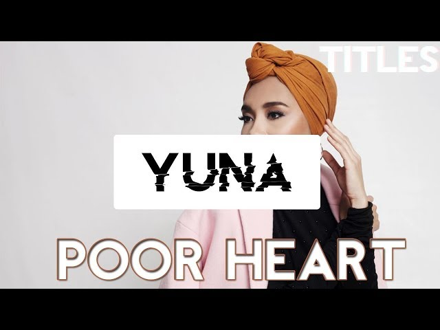 POOR HEART - YUNA karaoke version ( no vocal ) lyric instrumental