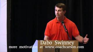 "Dabo Swinney Motivation - ""Just Shake it Off - Story of the Donkey & the Farmer"" - CoachCarson.com"