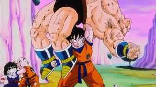 getlinkyoutube.com-Goku uses the Kaio-ken attack on Nappa HD (Eng Sub)