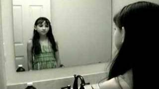 getlinkyoutube.com-Creepy Grudge Ghost Girl in the Mirror!