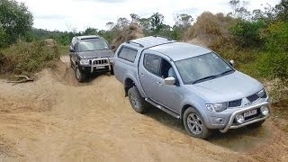 getlinkyoutube.com-Jeep Grand Cherokee vs Mitsubishi Triton L200 @ Powerlines Track