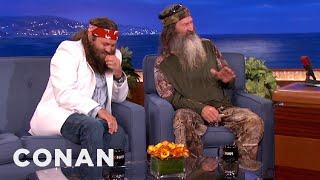 getlinkyoutube.com-Duck Commanders Phil and Willie Robertson Interview - CONAN on TBS
