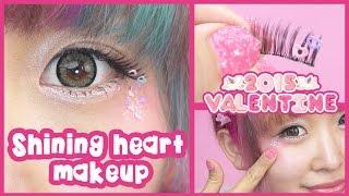 Valentine Shining heart makeup: Harajuku Style