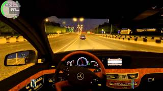 getlinkyoutube.com-City Car Driving Mercedes Benz S65 AMG Street racing!