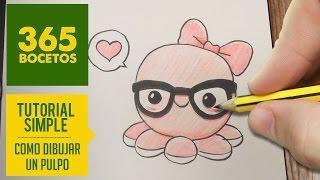 getlinkyoutube.com-COMO DIBUJAR UN PULPO KAWAII PASO A PASO - Dibujos kawaii faciles - How to draw a octopus
