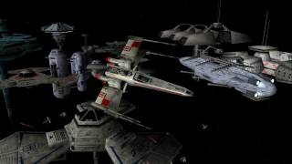 getlinkyoutube.com-Star Wars X-Wing Alliance - Defend Shipyard (Cinematographic style)