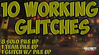 Black Ops 3 Zombie Glitches Top 10 All Best Shadows of Evil Pile Up Glitches (COD BO3 Zombie Glitch)