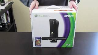 getlinkyoutube.com-XBOX 360 4GB KINECT unboxing