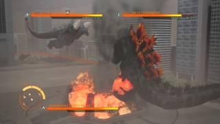 getlinkyoutube.com-GODZILLA ps4 online battle burning godzilla vs space godzilla vs destroyah