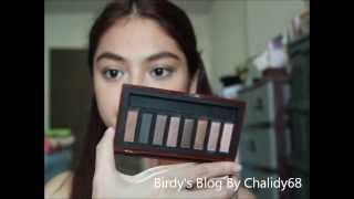 "getlinkyoutube.com-[Chalidy68] Swatch : Mistine ""Nudy Brown"" Complete Eye Palette"