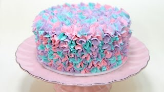 getlinkyoutube.com-EXPERIMENT Easy Buttercream Piping WITH THREE COLORS - CAKE STYLE