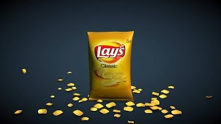 getlinkyoutube.com-How to model and animate potato chip bag in Cinema 4D - Part 1