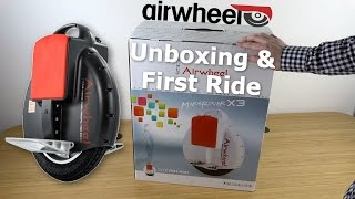 getlinkyoutube.com-AirWheel Electric Unicycle Unboxing & First Ride