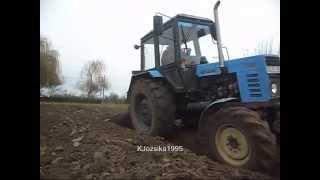 getlinkyoutube.com-Kert szántás 2014 Mtz Belarus 892 Turbo + 3 fejes ágyeke