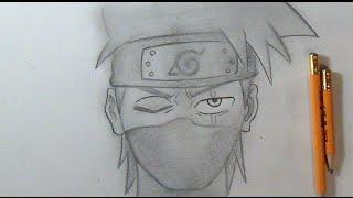 """""""Passo a Passo"""" Como desenhar o Kakashi - Naruto"""