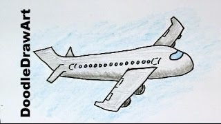 getlinkyoutube.com-How To Draw a Cartoon Airplane - Easy Drawing Lesson for Kids!
