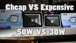 getlinkyoutube.com-#2 50W (Cheap) VS 30W (Expensive) LED Floodlight Teardown and Review