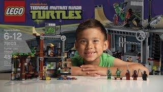 getlinkyoutube.com-TURTLE LAIR ATTACK - LEGO Teenage Mutant Ninja Turtles Set 79103 - Time-lapse & Review