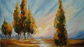 "getlinkyoutube.com-Oil Painting ""Landscape"" with Svetlana Kanyo"
