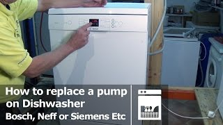 Dishwasher how to replace a Pump Bosch, Neff or Siemens E25 fault
