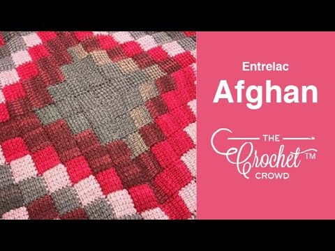 How to Crochet Entrelac Afghan: Caron Cakes