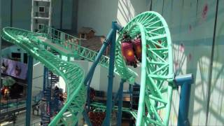 getlinkyoutube.com-Spongebob Squarepants Rock Bottom Plunge Roller Coaster POV Nickelodeon Universe