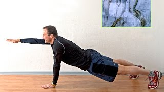 getlinkyoutube.com-Push up + Bird Plank for Obliques Stabilizers A GREAT CORE Strengthening Exercise