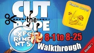 getlinkyoutube.com-Cut The Rope Experiments - Bamboo Chutes 8-1 to 8-25 Complete Walkthrough (3 Stars)